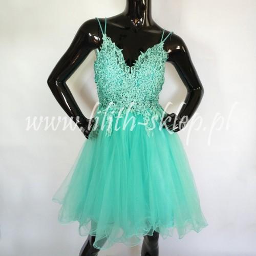 01d37be856 krótka sukienka tiulowa z haftowanym gorsetem - LILITH
