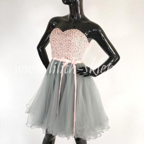 7e7d3e2094 sukienka-gorsetowa-tiulowa-rozkloszowana-rozowo-szara