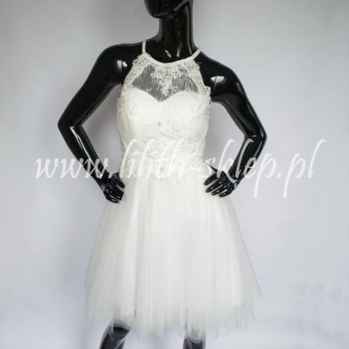 017ab42ad473 Krótka sukienka z odkrytymi plecami