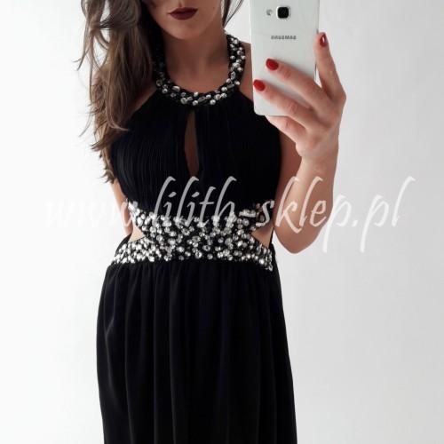 fa6d37ea9148 Czarna sukienka maxi ze zwiewnego materiału - LILITH sklep