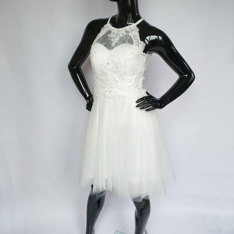 c6bae4d04e Wyjątkowy Krótka sukienka z odkrytymi plecami